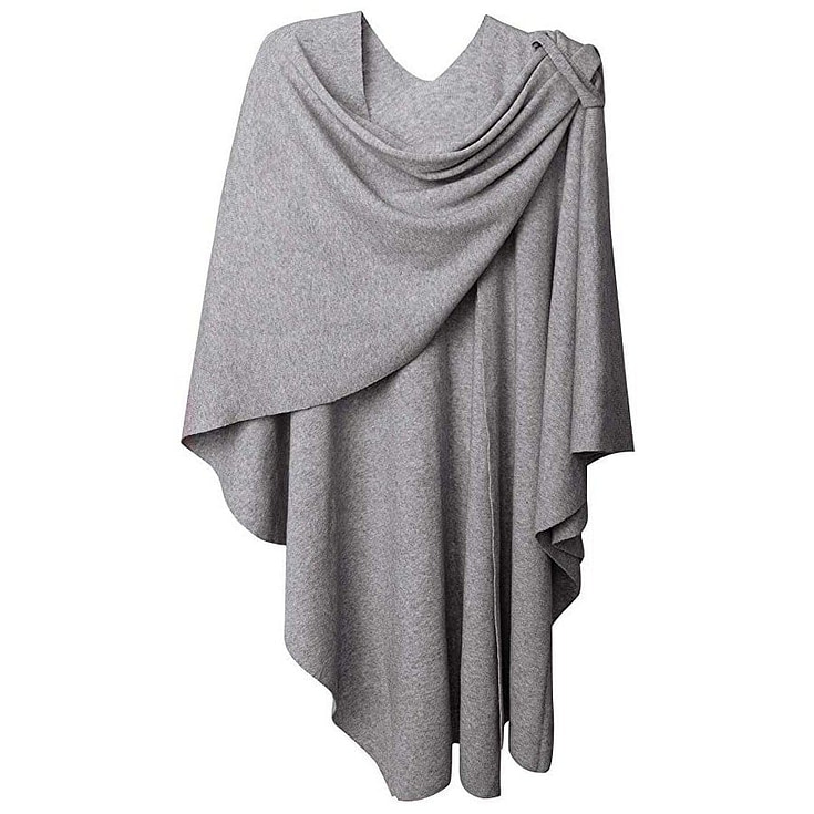 Cross Front Poncho Sweater