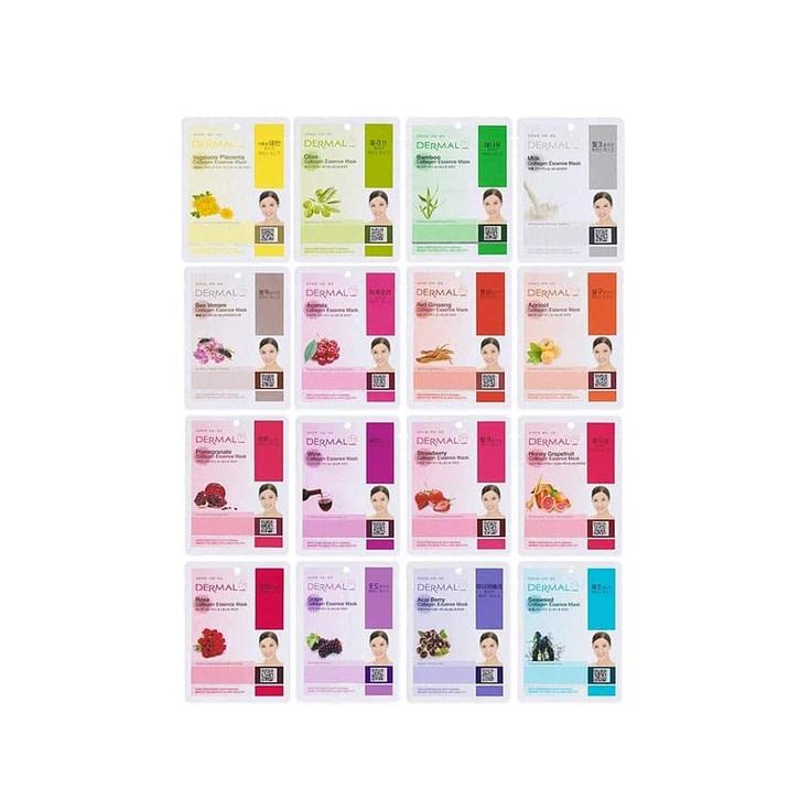 Dermal Collagen Essence Sheet Mask 16 Combo Pack