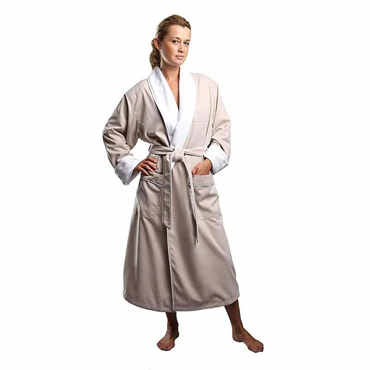Terry Lined Microfiber Hotel Robe