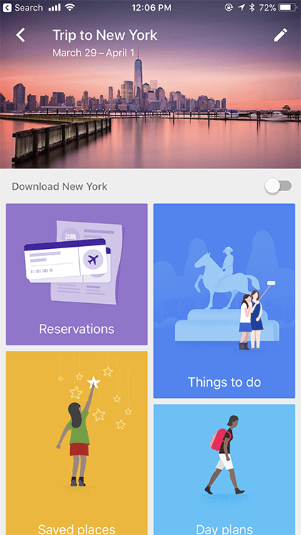 Google Trips - one of the 15 Apps You Need to Meet Your Goals in 2018