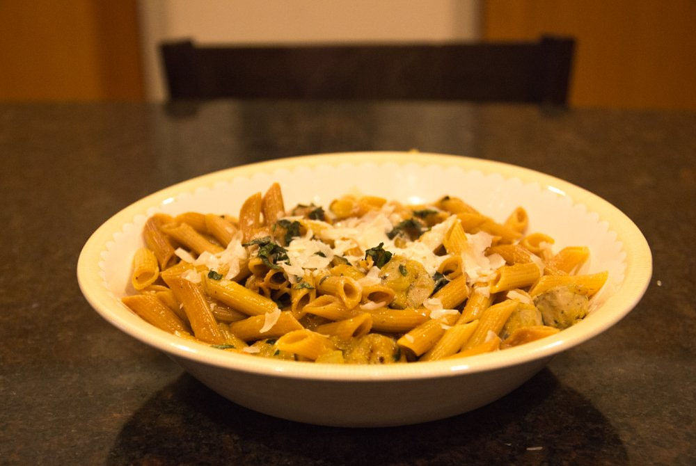 Healthy, Creamy Toasted Vegetarian Pasta