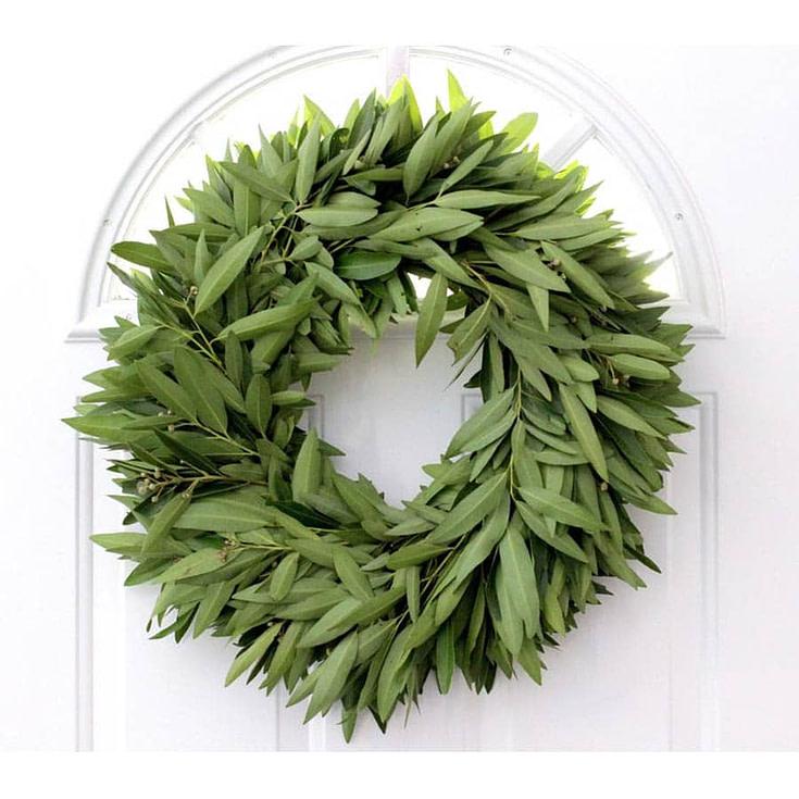 """Fresh Bay Leaf Wreath- 20"""""""