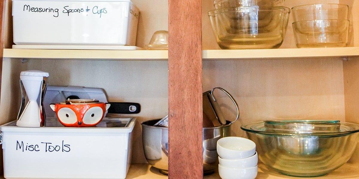 A Sneak Peek into My KonMari Kitchen Cabinet Reorganization