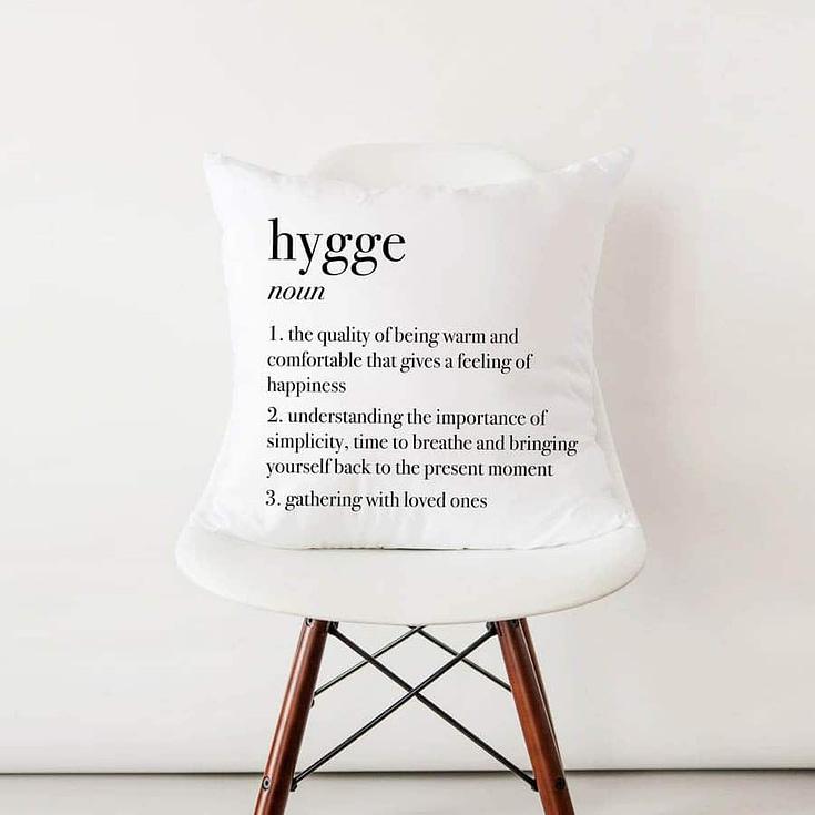 Hygge definition pillow