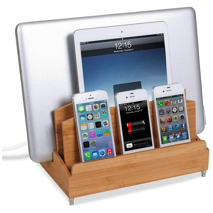Ultra Charging Station and Dock with Built-in Power Strip Storage