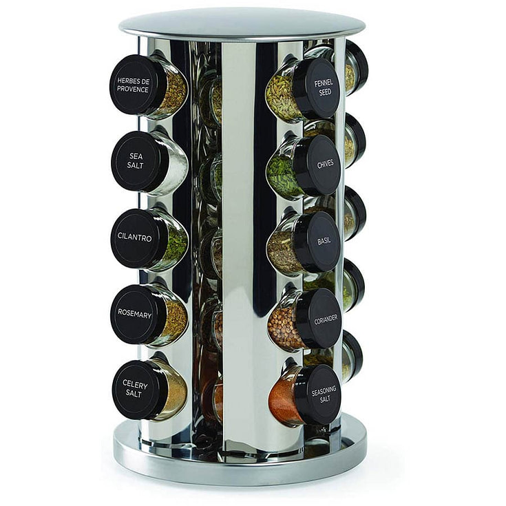 Kamenstein Revolving 20-Jar Spice Rack