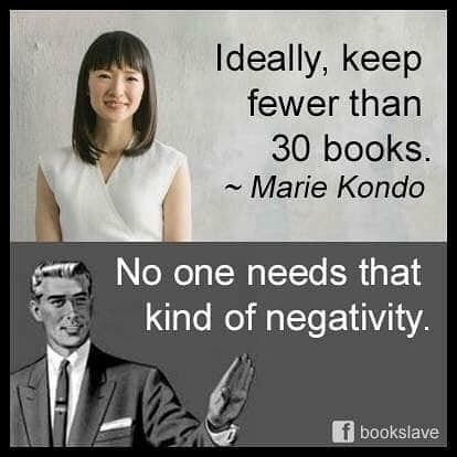 5 Tips for Tidying Up You Won't Learn from Marie Kondo's Netflix Show - 3. You can have more than 30 books.