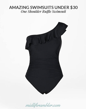 One Shoulder Ruffle Swimsuit