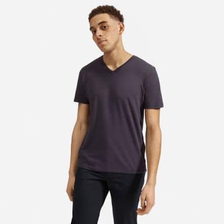 The Cotton V-Neck Tee | Uniform - Washed Ink Grey