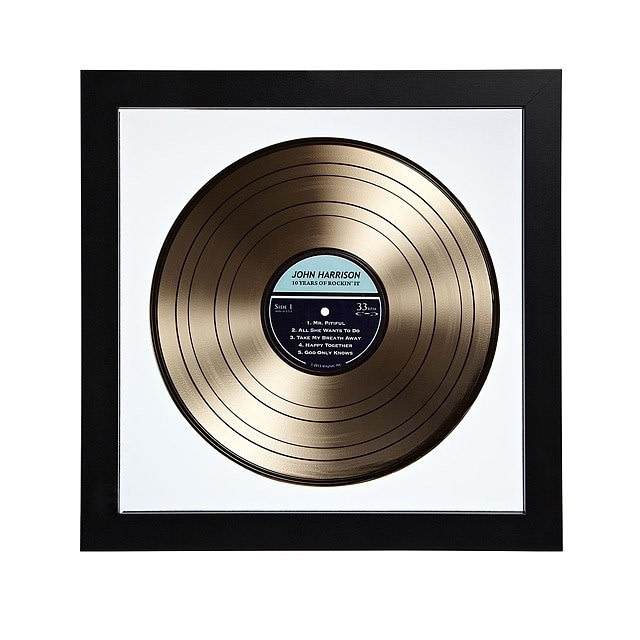Personalized Gold LP Record | Gold Personalized LP Record