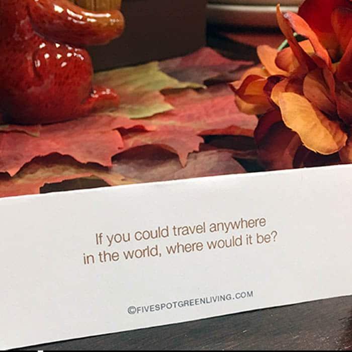 Thanksgiving Conversation Starter Place Cards