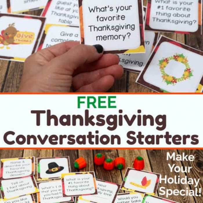 Free Thanksgiving Conversation Starters for Fantastic Holiday Fun