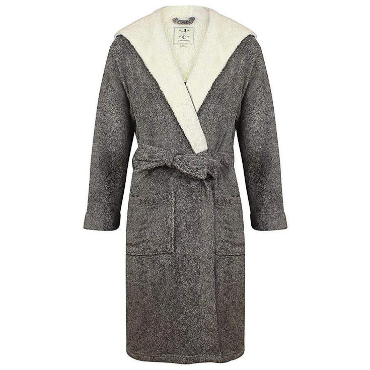 Men's Hooded Fleece Robe