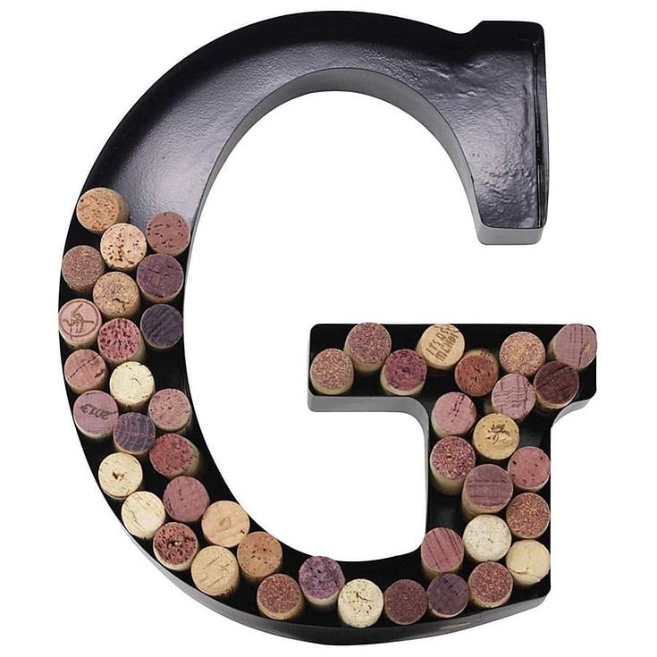 Metal Letter Wine Cork Monogram