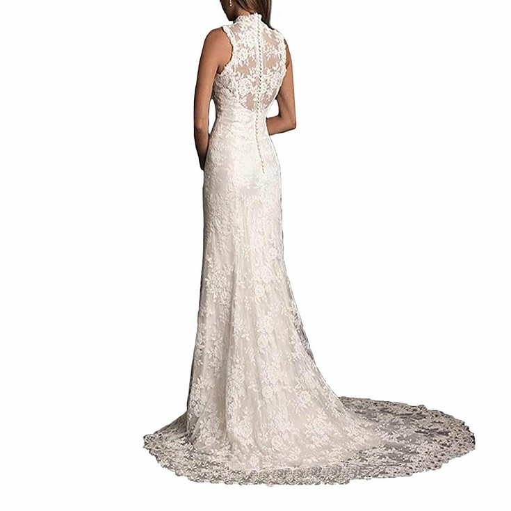 Lace Long Vintage Country Style Bridal Wedding Dress