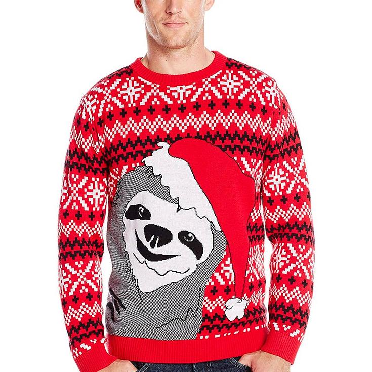 Alex Stevens Men's Slothy Christmas Ugly Christmas Sweater