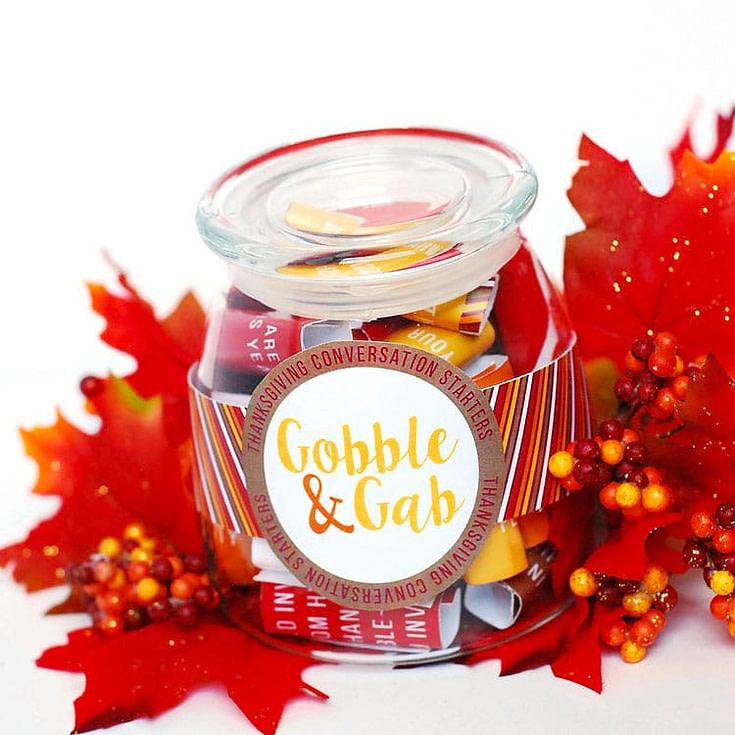 Thanksgiving Conversation Starter Jar