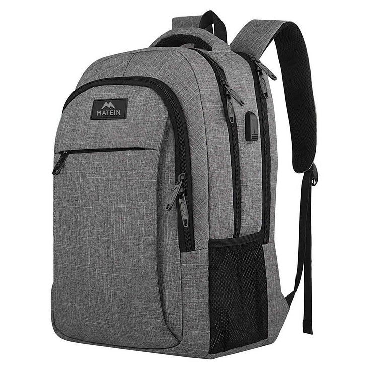 Grey Business Laptop Backpack