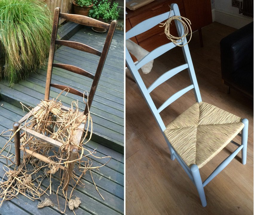 Before and After Ladderback Chair