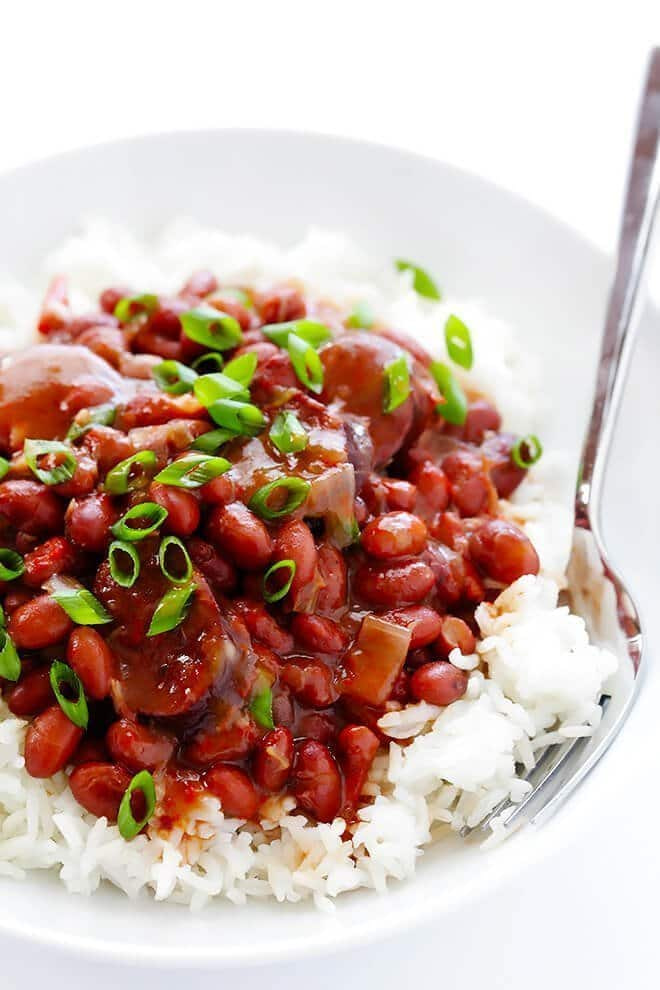 Slow Cooker Red Beans and Rice - - 25+ Great Slow Cooker Meals Just Right for Two People