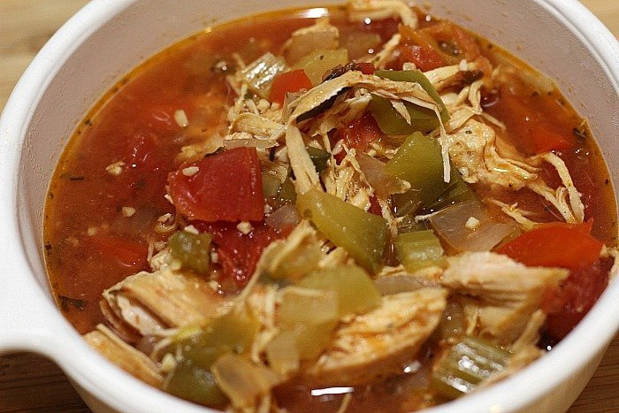 Slow Cooker Chicken Fajita Soup - - 25+ Great Slow Cooker Meals Just Right for Two People