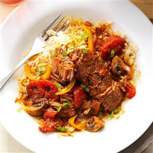 Tomato Basil Steak - - 25+ Great Slow Cooker Meals Just Right for Two People
