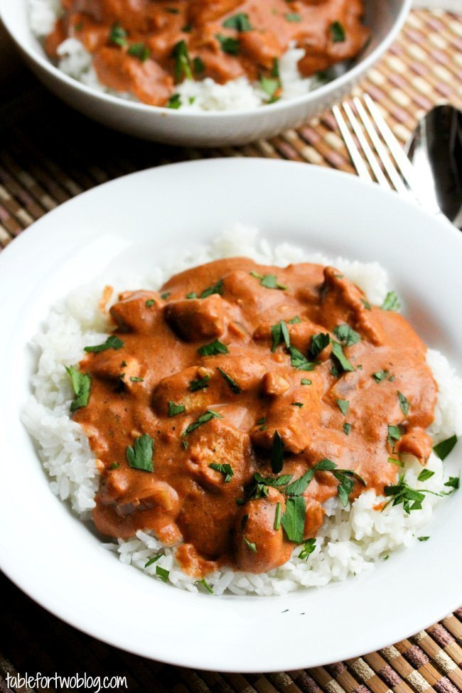 Crockpot Chicken Tikka Masala - 25+ Great Slow Cooker Meals Just Right for Two People