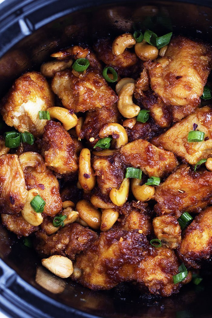 Slow Cooker Cashew Chicken - - 25+ Great Slow Cooker Meals Just Right for Two People